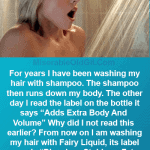 shampoo can make you fat
