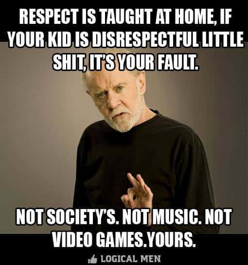 Respect taught at home